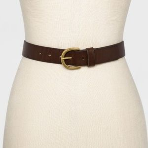 Universal Thread Brown Belt with Gold Buckle